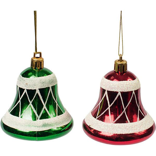 Новогоднее подвесное украшение из пластика, набор из 2 шт., 75460