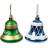 Новогоднее подвесное украшение из пластика, набор из 2 шт., 75462