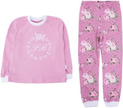 Пижама Веселый малыш для девочки - розовый