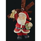 """Украшение на елку ErichKrause """"Санта с колокольчиком"""", 6 см"""
