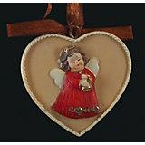 """Украшение на елку ErichKrause """"Медальон с ангелом"""", 6 см"""