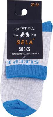 Носки SELA для мальчика - серый