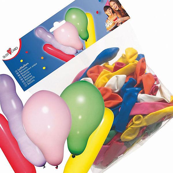 Шары воздушные Фигурные. 100штук в упаковке. Цвета в ассортименте.