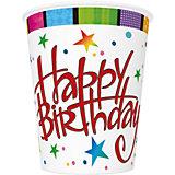 Стаканы Happy Birthday, 250 мл. Материал: картон 210 г/м2