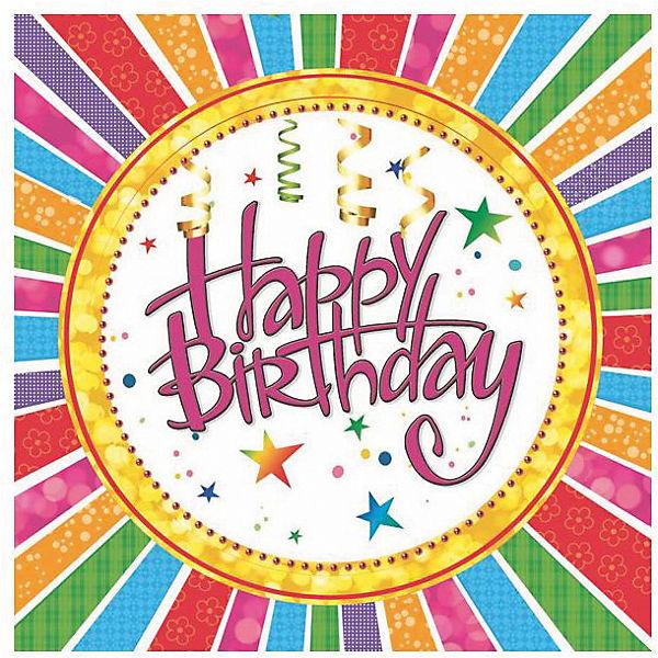 Салфетки сервиров.Maki Happy Birthday серпантин