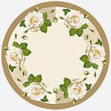Тарелки Белая роза