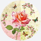 Тарелки Роза и бабочки