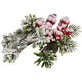 """Ел.укр. """"RUSSIAN WINTER"""" веточка ягоды калины в снегу, 20х12см,1шт"""