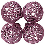 "ёл. укр. ""PINK DREAMS"" набор шар кружевной  6 см., 4шт, розовый"