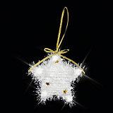 """ёл. укр. """"CLASSIC WHITE"""" звезда заснеженная с подсветкой  9см, 1шт, белый"""
