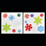 """Наклейка гелевая, объемная """"Снежинки разноцветные"""" (2 дизайна в ассортименте), размер см. 20х20х03"""