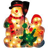 35 ламп, фигура снеговик, разноцветный, 33*33,5 см,  белый влагозащит провод 1,5 м