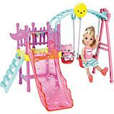 """Набор с мини-куклой Mattel Barbie """"Развлечения Челси"""" На детской площадке, 12 см"""