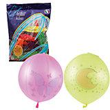 """Воздушные шары 16 Веселая затея """"Панч-болл"""" 25 шт, 41 см (8 рисунков, 12 цветов неон)"""