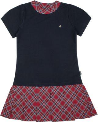 Платье Апрель для девочки - темно-синий