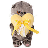 Мягкая игрушка Budi Basa Кот Басик Baby с сердечком, 20 см