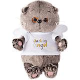 Мягкая игрушка Budi Basa Кот Басик Baby в футболочке Just an Angel, 20 см