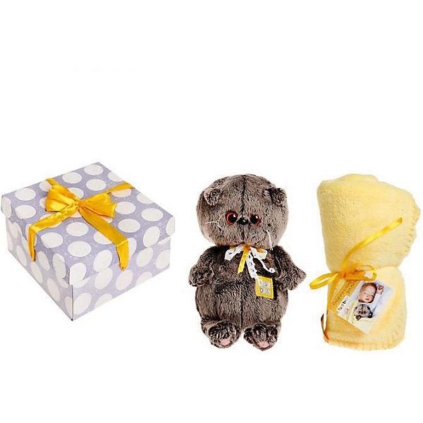 Мягкая игрушка Budi Basa Кот Басик Baby с детским пледом, 20 см