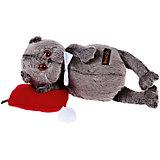 Мягкая игрушка Budi Basa Кот Басик в бабочке на красной подушке, 26 см
