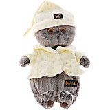 Мягкая игрушка Budi Basa Кот Басик в пижаме, 19 см