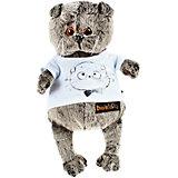 Мягкая игрушка Budi Basa Кот Басик в футболке с принтом Мордочка Басика, 19 см