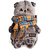 Мягкая игрушка Budi Basa Кот Басик и шарф в клеточку, 22 см