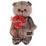 Мягкая игрушка Budi Basa Кот Басик с букетиком роз, 22 см