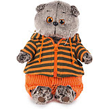 Мягкая игрушка Budi Basa Кот Басик в штанах и полосатой кофте, 22 см