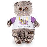 Мягкая игрушка Budi Basa Кот Басик в футболке с принтом Веселый фотограф, 22 см