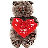 Мягкая игрушка Budi Basa Кот Басик с красным сердечком, 22 см