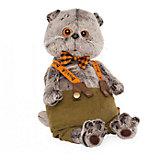 Мягкая игрушка Budi Basa Кот Басик в штанах с подтяжками, 30 см
