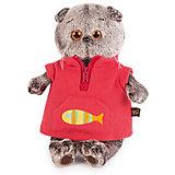 Мягкая игрушка Budi Basa Кот Басик в красном флисовом жилете, 30 см
