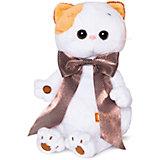 Мягкая игрушка Budi Basa Кошка Ли-Ли с атласным коричневым бантом, 24 см