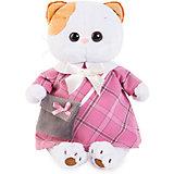 Мягкая игрушка Budi Basa Кошка Ли-Ли в розовом платеь с серой сумочкой, 24 см