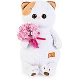 Мягкая игрушка Budi Basa Кошка Ли-Ли с розовым букетом, 24 см