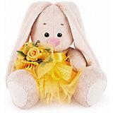 Мягкая игрушка Budi Basa Зайка Ми в желтой юбочке и с букетом, 15 см