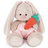 Мягкая игрушка Budi Basa Зайка Ми в панталончиках и с морковкой, 15 см