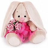 Мягкая игрушка Budi Basa Зайка Ми в розовой юбочке с букетом, 15 см