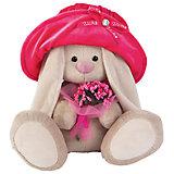 Мягкая игрушка Budi Basa Зайка Ми в бархатной шляпе с букетом, 32 см