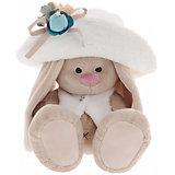 Мягкая игрушка Budi Basa Зайка Ми в белой меховой шляпе и жилете, 32 см