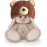Мягкая игрушка Budi Basa Зайка Ми в шапке медвежонка, 15 см