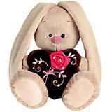 Мягкая игрушка Budi Basa Зайка Ми с коричневым сердечком с розочкой, 32 см