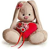 Мягкая игрушка Budi Basa Зайка Ми с сердечком, 23 см
