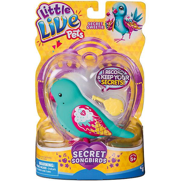Интерактивная птичка Moose Little Live Pets Secret Sweety, голубая (звук, запись)