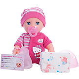 "Интерактивная кукла-пупс Карапуз ""Hello Kitty"", 30 см (3 функции, пьет, писает, закрывает глазки"