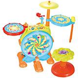Музыкальный центр с барабанной установкой Huile Toys