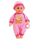 """Интерактивная кукла-пупс Карапуз """"Пупс в розовом. Стихи Барто"""", 30 см"""