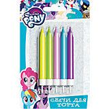 """Свечи для торта с держаталем Росмэн """"My little Pony"""", 5 шт. 6,5 см"""