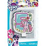 """Свеча для торта Росмэн """"My little Pony. Свеча-цифра 5"""""""