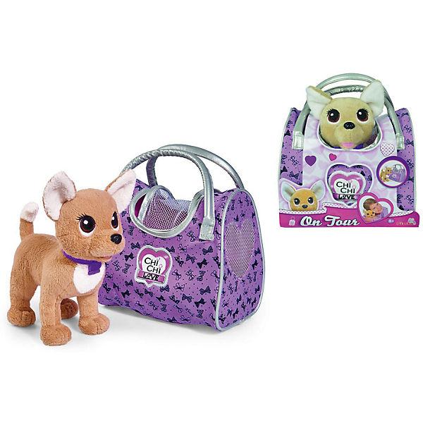 """Мягкая игрушка Simba Chi Chi Love """"Собачка-путешественница с сумкой-переноской"""", 20 см"""